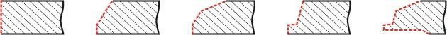 варианты разделки торцев (схема)